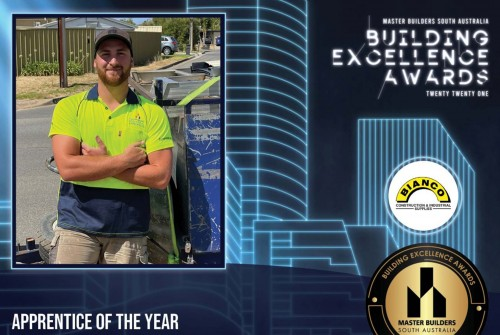 Winners at the 2021 MBA (SA) Building Excellence Awards