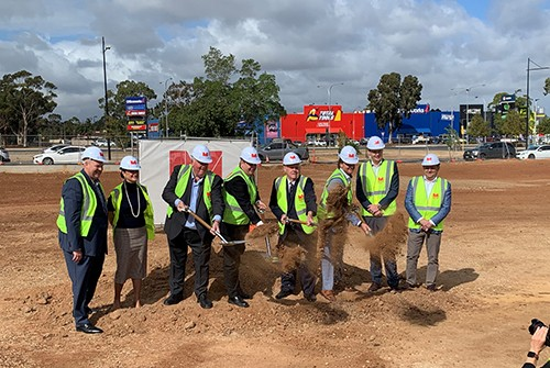 Official Turning of the Sod for the city's newest hotel development, Ramada by Wyndham Playford
